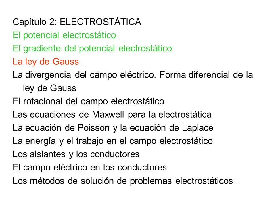 Capítulo 2: ELECTROSTÁTICA