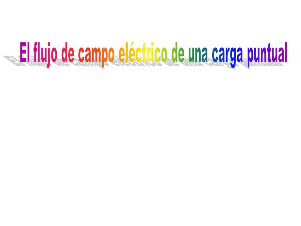 El flujo de campo eléctrico de una carga puntual