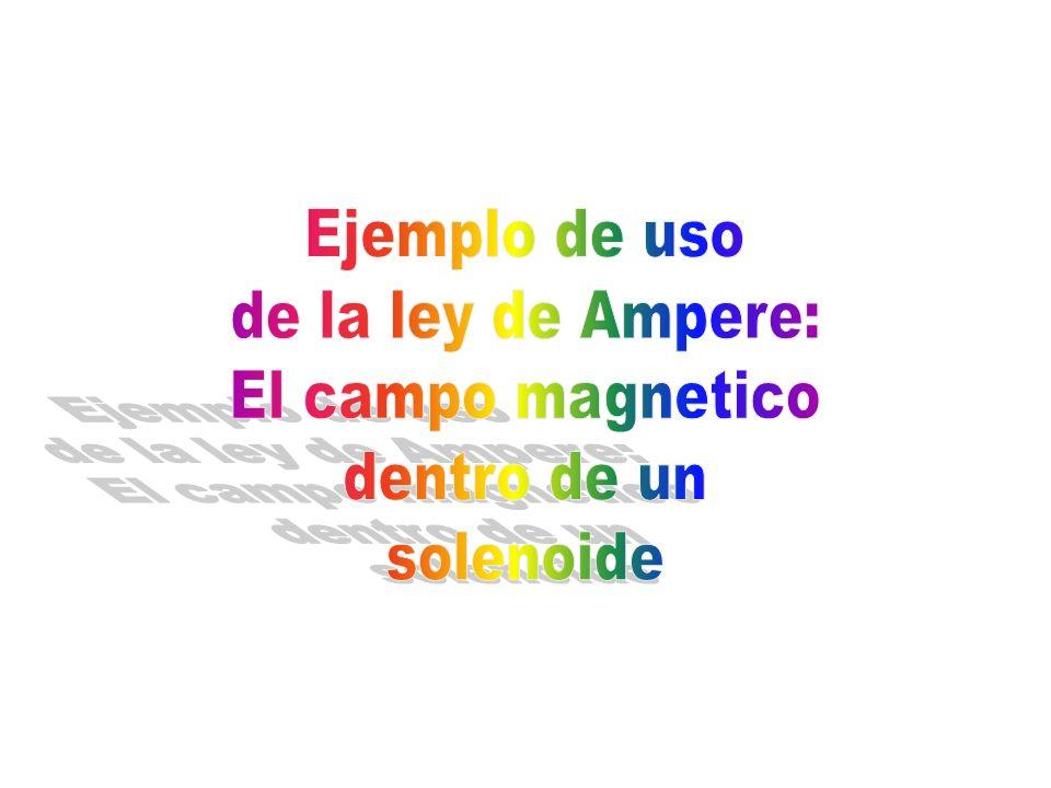 Ejemplo de uso de la ley de Ampere: El campo magnetico dentro de un solenoide