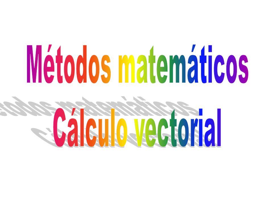 Métodos matemáticos Cálculo vectorial El curso debería ser de un año