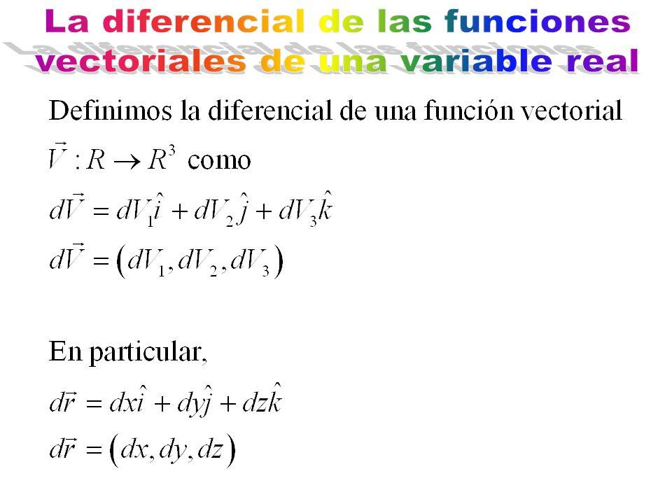 La diferencial de las funciones vectoriales de una variable real