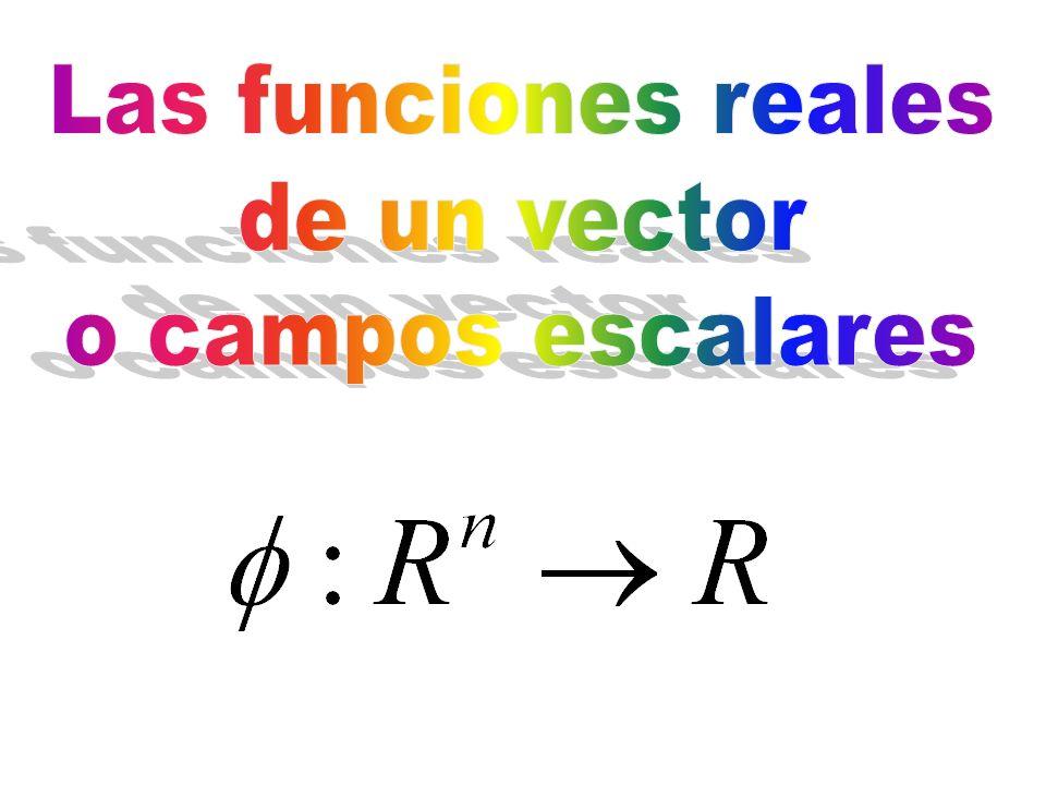 Las funciones reales de un vector o campos escalares