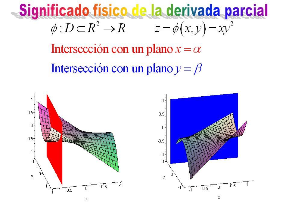 Significado físico de la derivada parcial