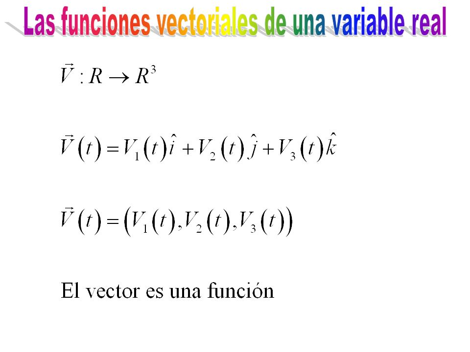 Las funciones vectoriales de una variable real