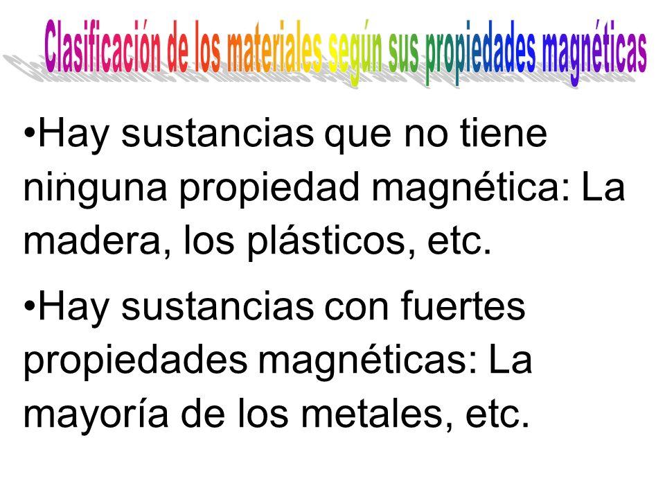 Clasificación de los materiales según sus propiedades magnéticas