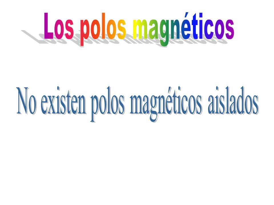 No existen polos magnéticos aislados