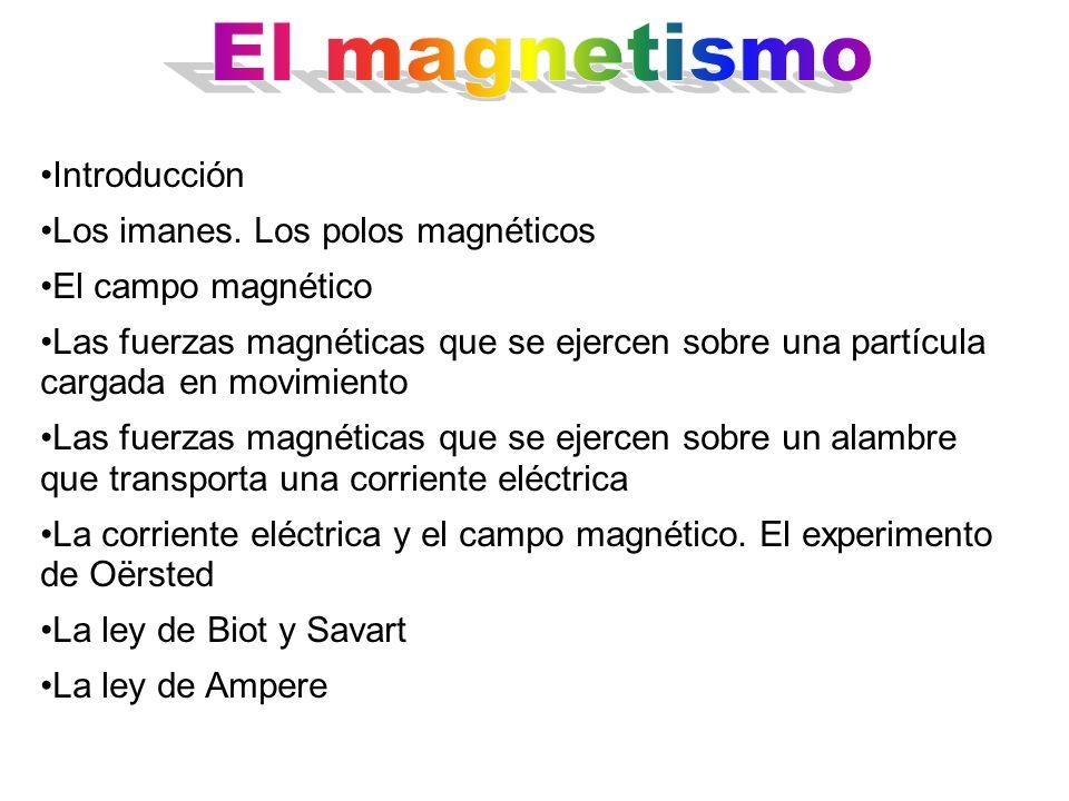 El magnetismo Introducción Los imanes. Los polos magnéticos