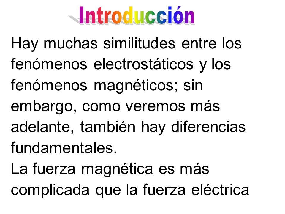 La fuerza magnética es más complicada que la fuerza eléctrica