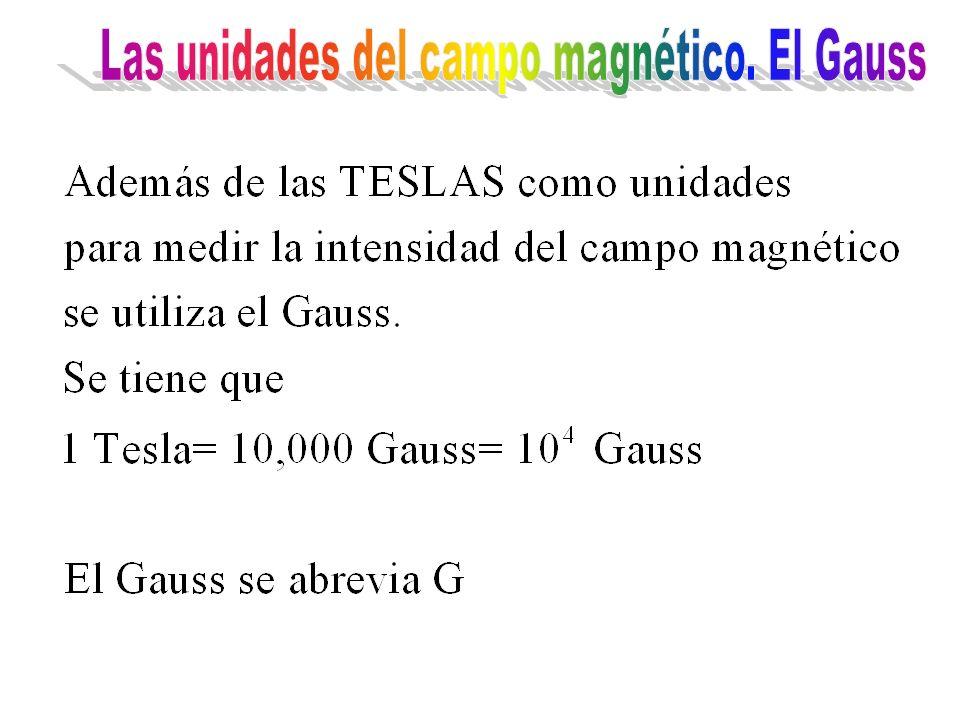 Las unidades del campo magnético. El Gauss