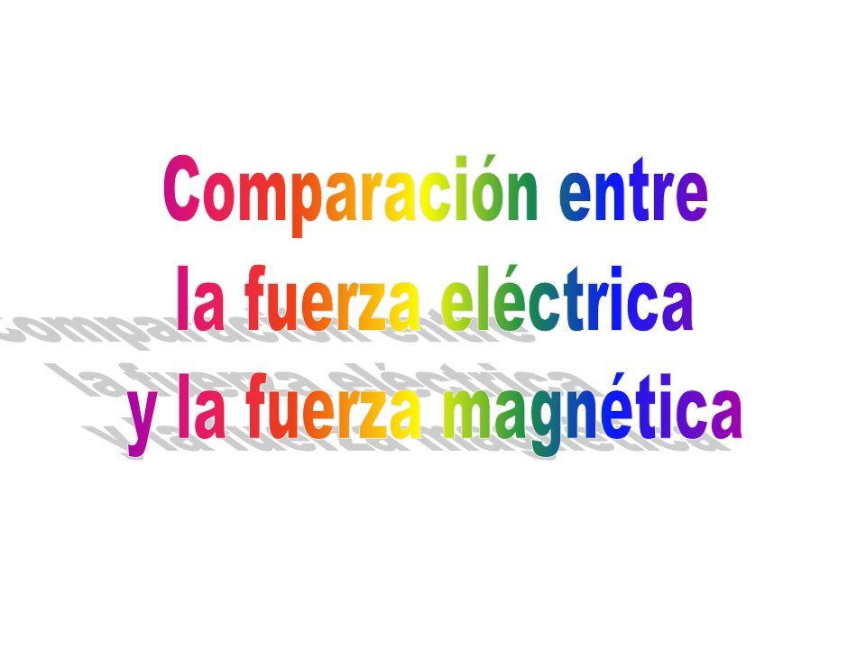 Comparación entre la fuerza eléctrica y la fuerza magnética