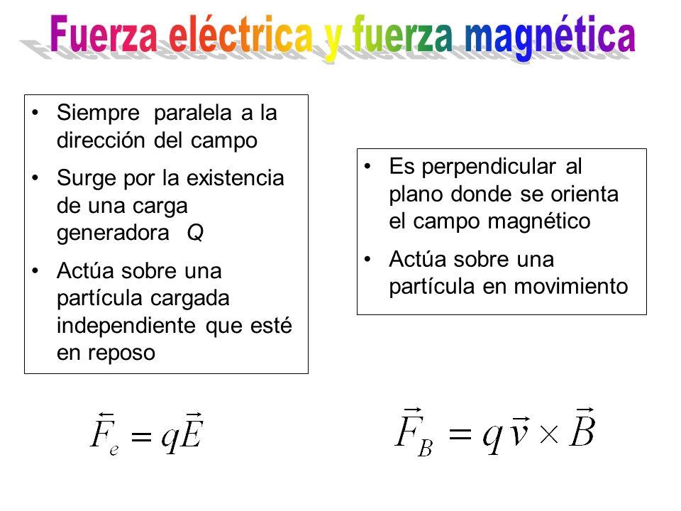 Fuerza eléctrica y fuerza magnética