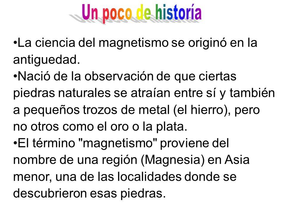Un poco de historía La ciencia del magnetismo se originó en la antiguedad.