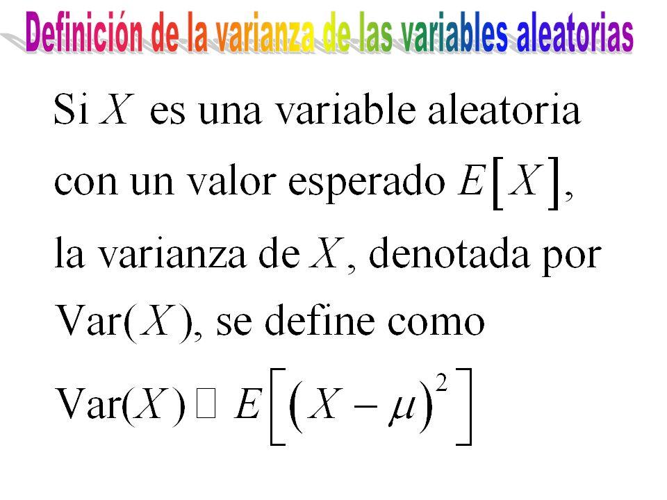 Definición de la varianza de las variables aleatorias