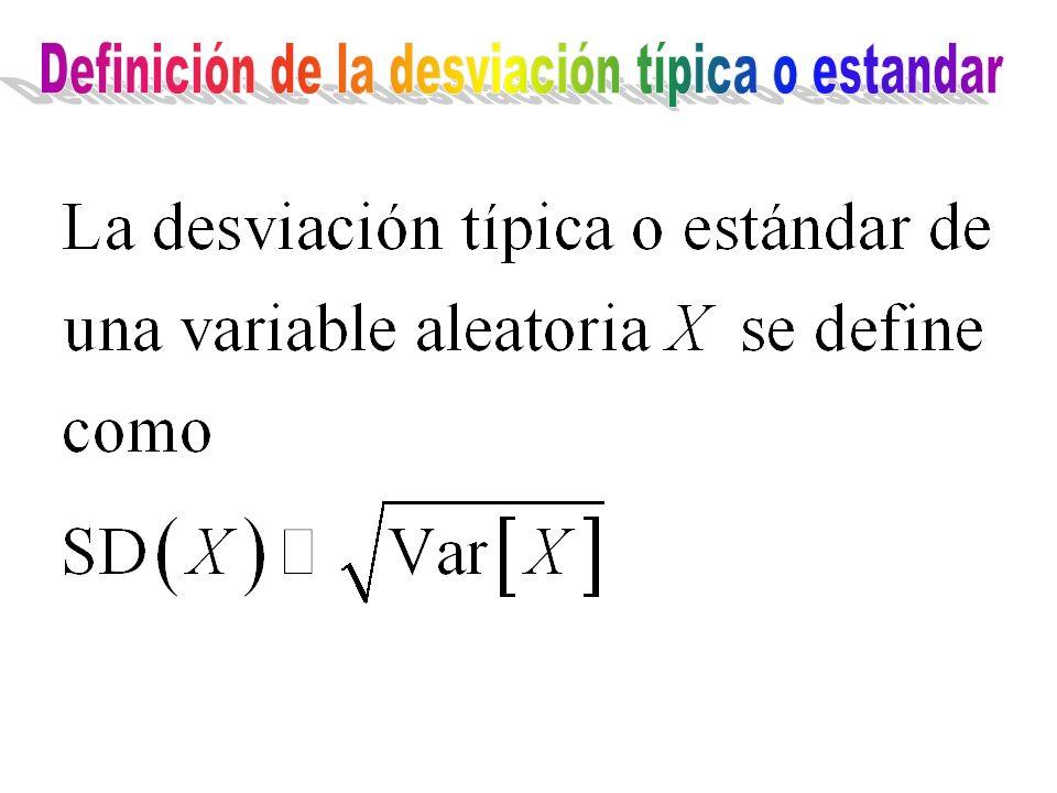 Definición de la desviación típica o estandar