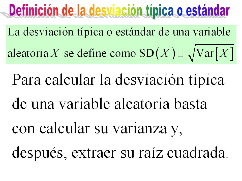 Definición de la desviación típica o estándar