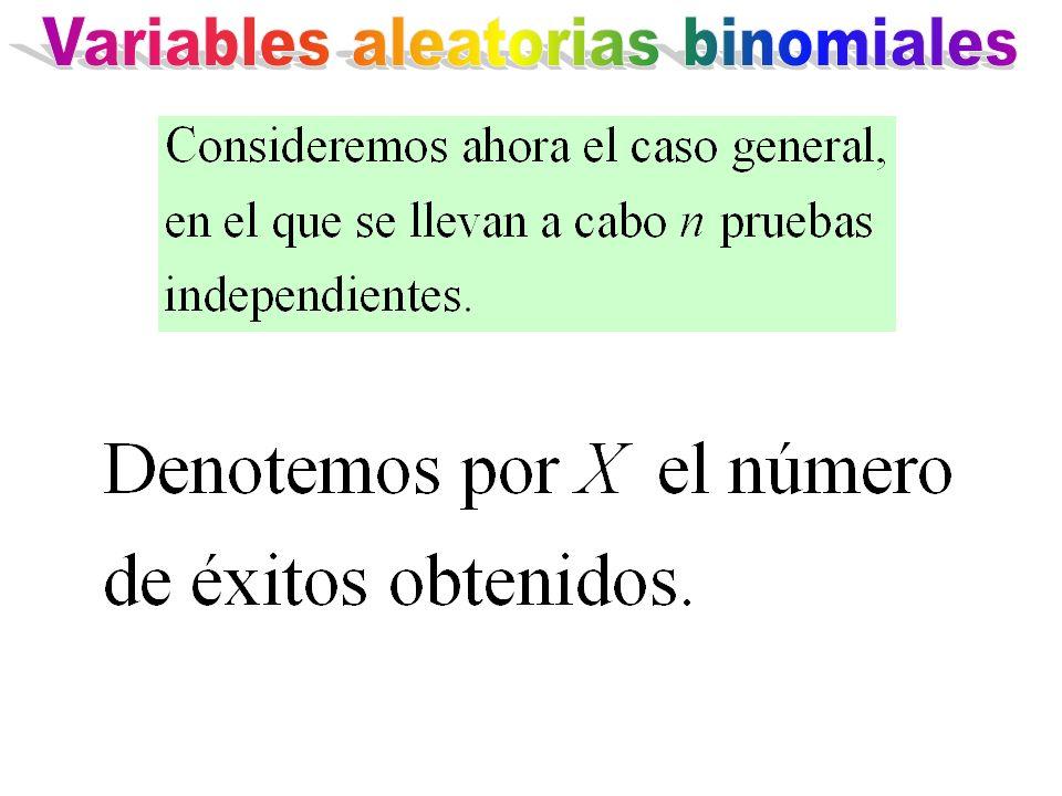 Variables aleatorias binomiales