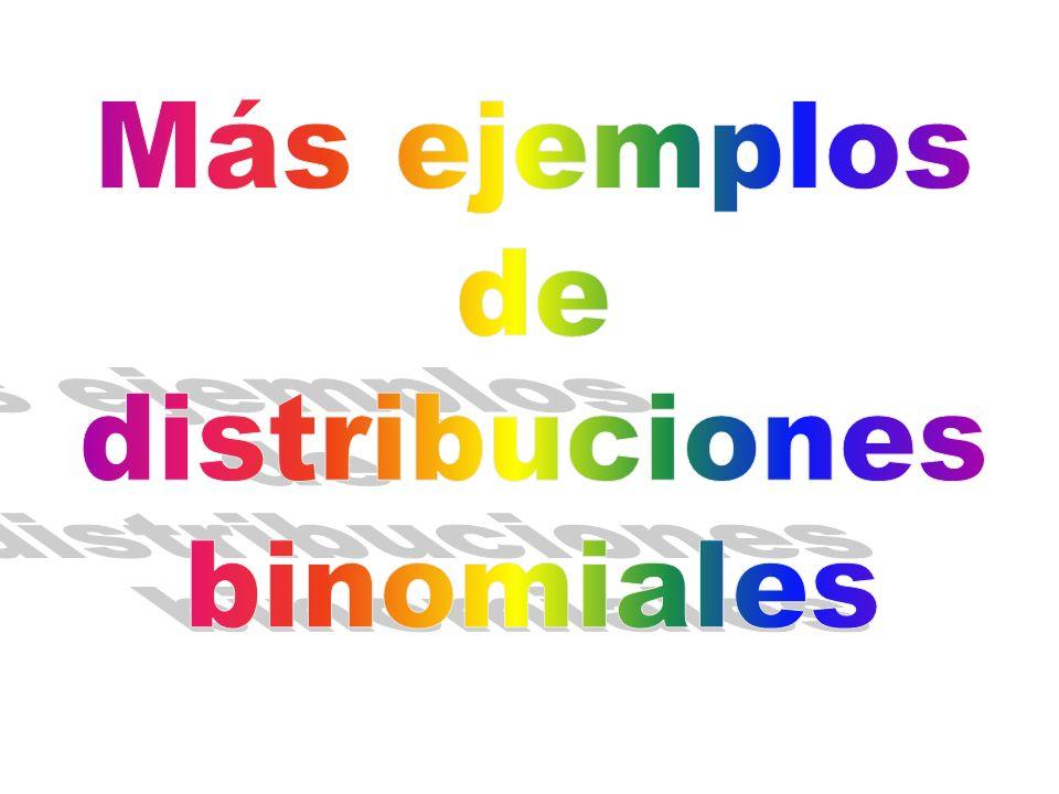 Más ejemplos de distribuciones binomiales