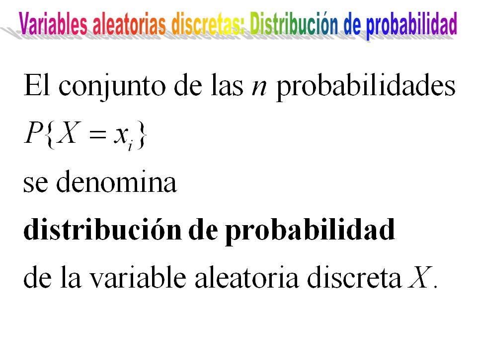 Variables aleatorias discretas: Distribución de probabilidad
