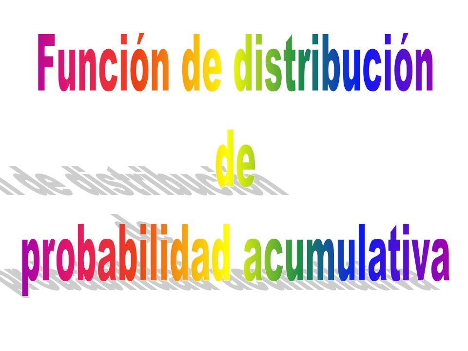 Función de distribución de probabilidad acumulativa