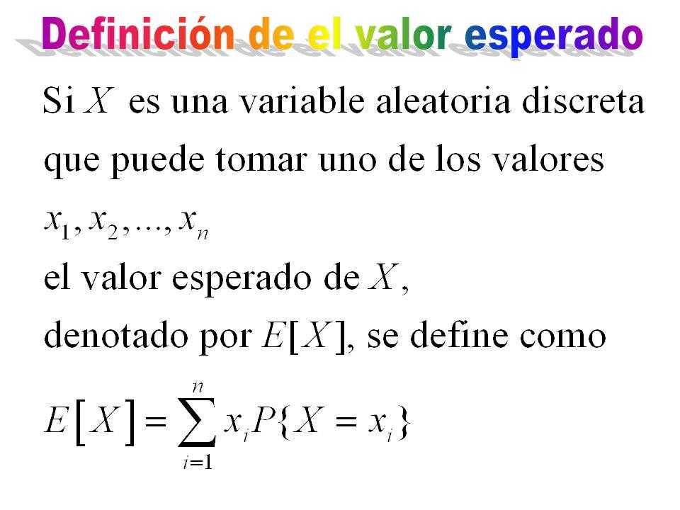 Definición de el valor esperado