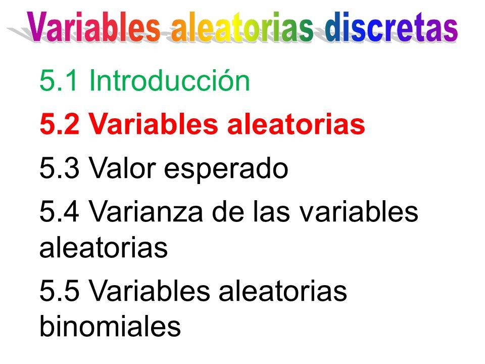 Variables aleatorias discretas