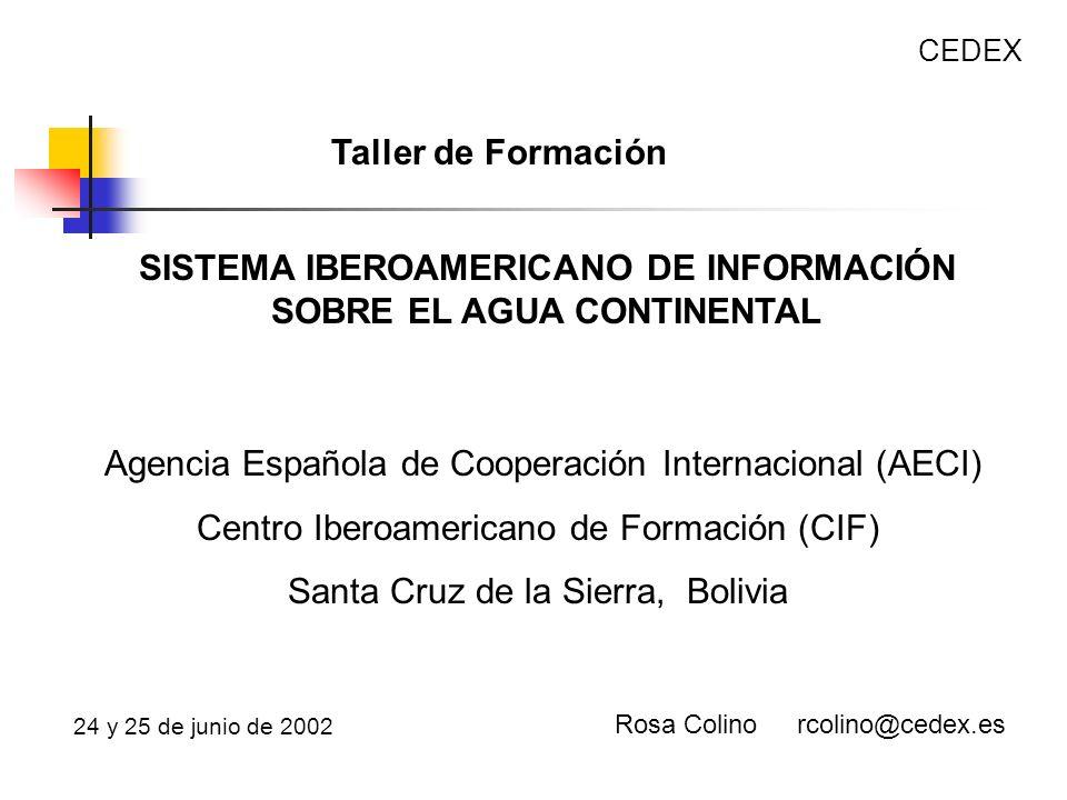 SISTEMA IBEROAMERICANO DE INFORMACIÓN SOBRE EL AGUA CONTINENTAL