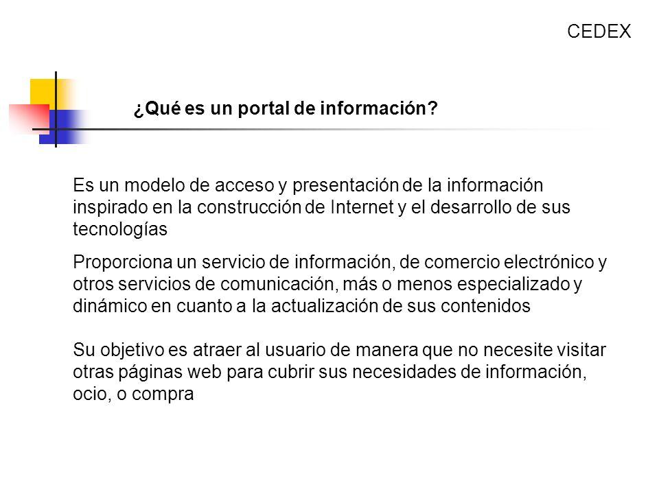 CEDEX ¿Qué es un portal de información