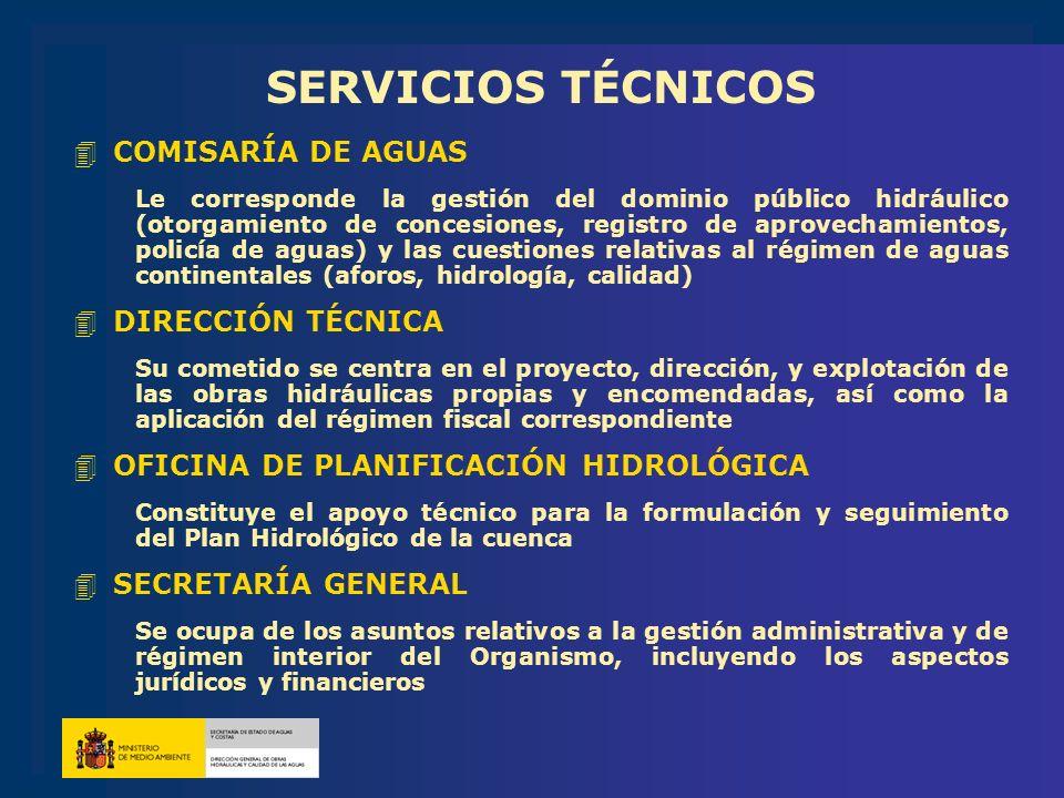 SERVICIOS TÉCNICOS COMISARÍA DE AGUAS DIRECCIÓN TÉCNICA
