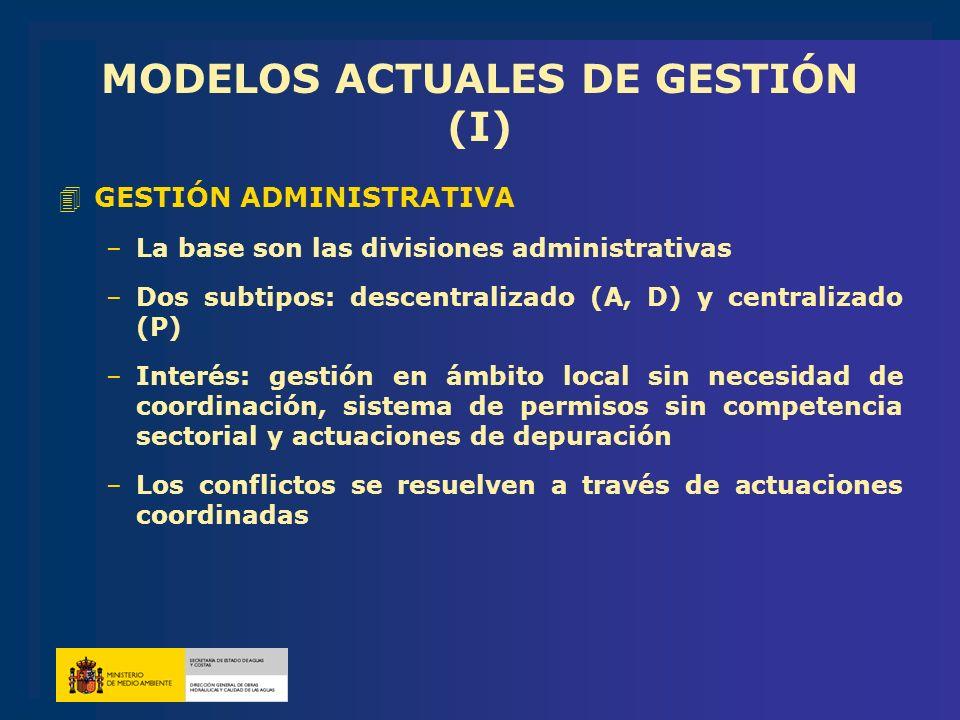 MODELOS ACTUALES DE GESTIÓN (I)