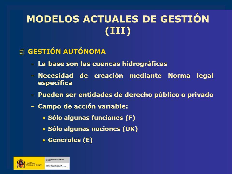 MODELOS ACTUALES DE GESTIÓN (III)
