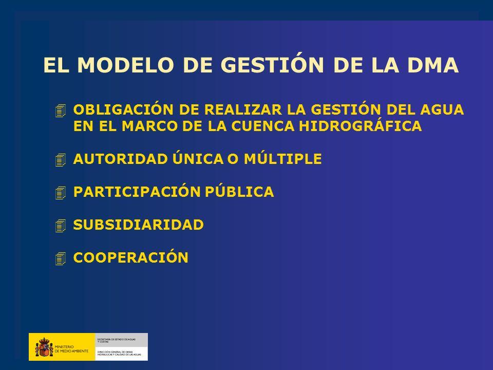 EL MODELO DE GESTIÓN DE LA DMA
