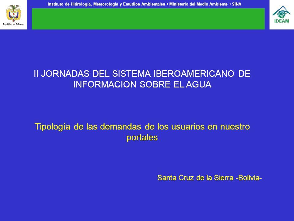 II JORNADAS DEL SISTEMA IBEROAMERICANO DE INFORMACION SOBRE EL AGUA