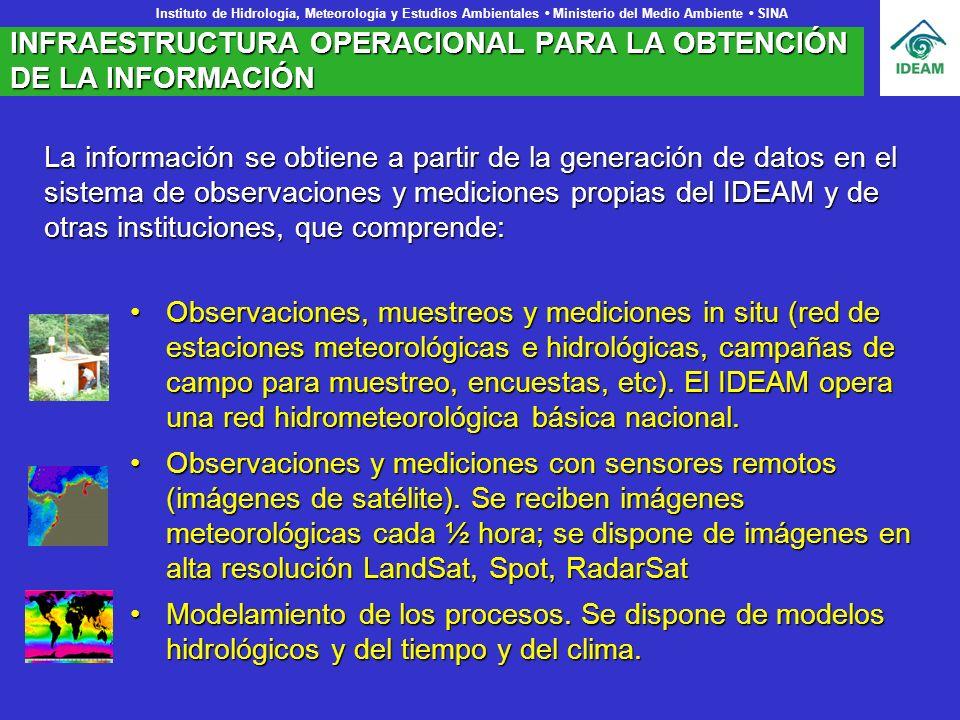 INFRAESTRUCTURA OPERACIONAL PARA LA OBTENCIÓN DE LA INFORMACIÓN