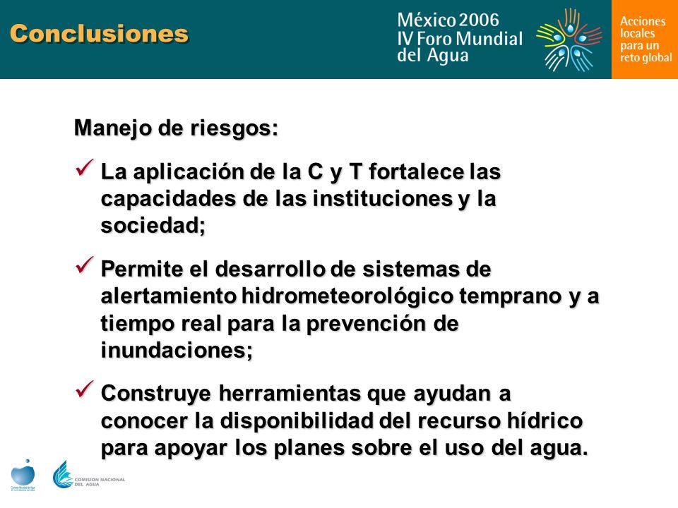 Conclusiones Manejo de riesgos: