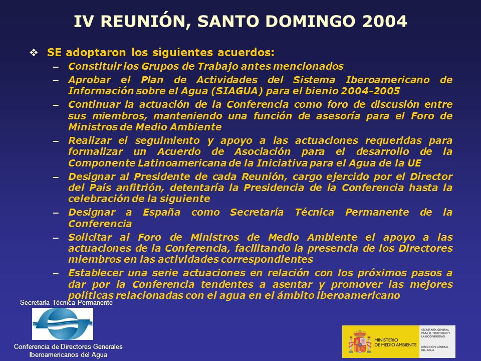 IV REUNIÓN, SANTO DOMINGO 2004