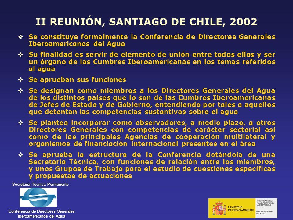 II REUNIÓN, SANTIAGO DE CHILE, 2002