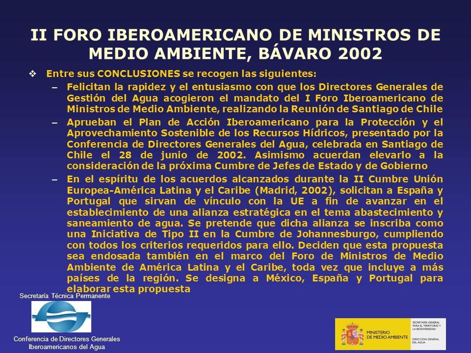 II FORO IBEROAMERICANO DE MINISTROS DE MEDIO AMBIENTE, BÁVARO 2002