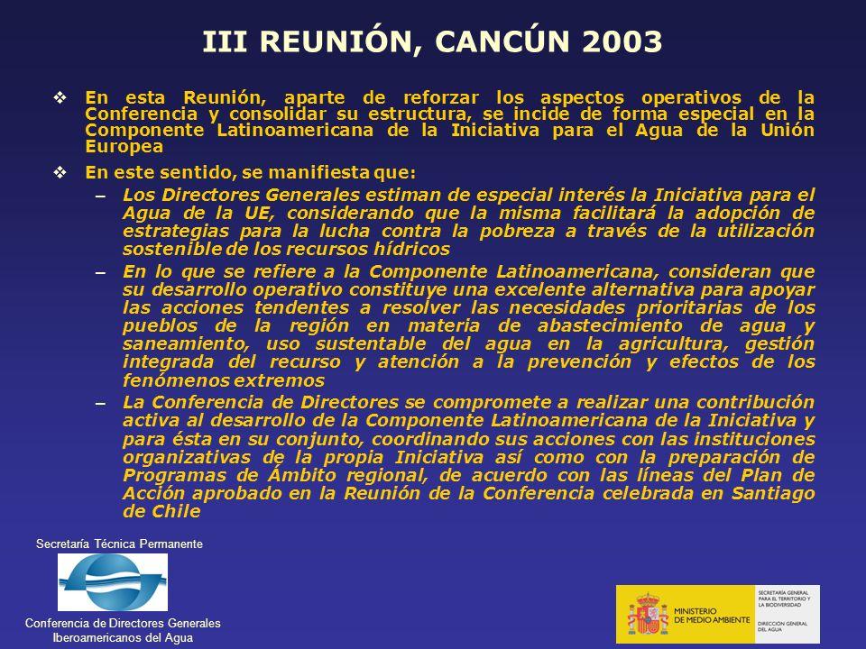 III REUNIÓN, CANCÚN 2003