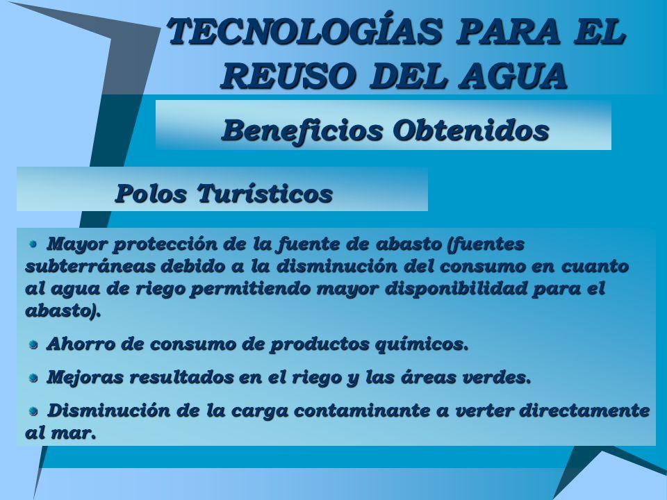 TECNOLOGÍAS PARA EL REUSO DEL AGUA