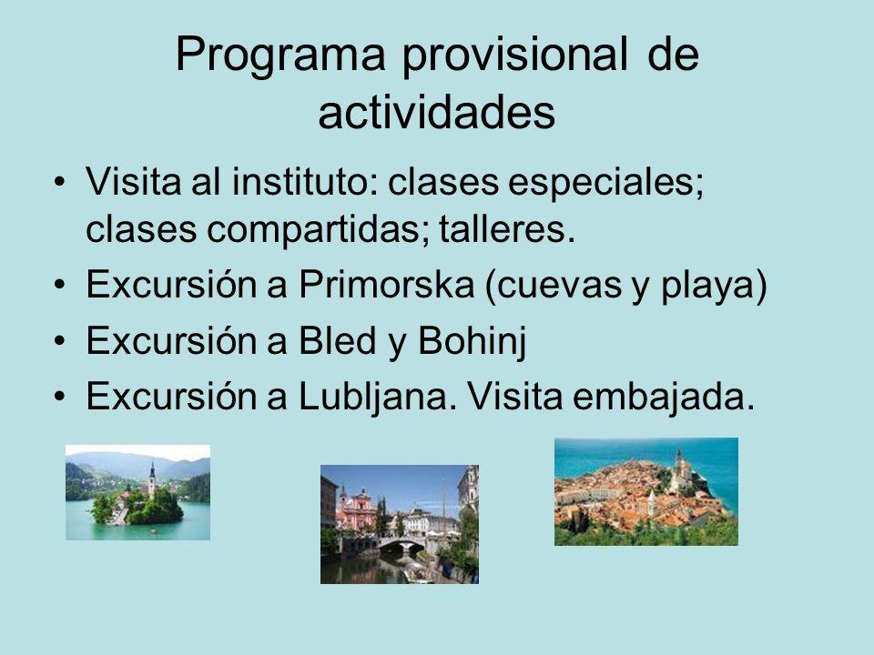 Programa provisional de actividades
