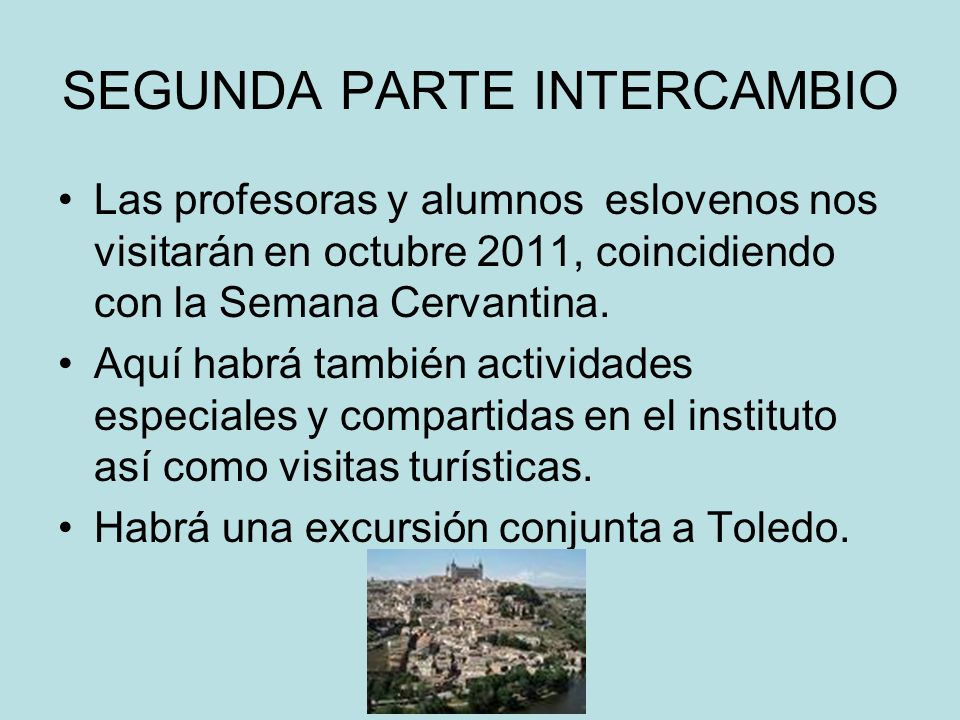 SEGUNDA PARTE INTERCAMBIO