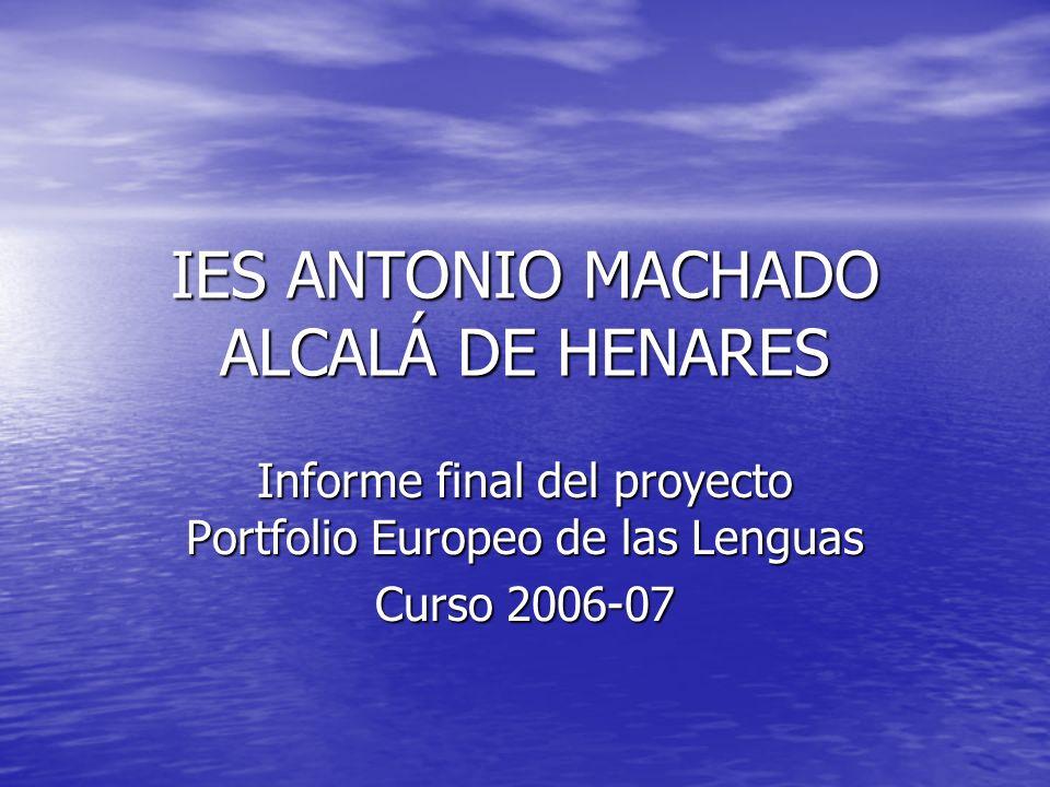 IES ANTONIO MACHADO ALCALÁ DE HENARES