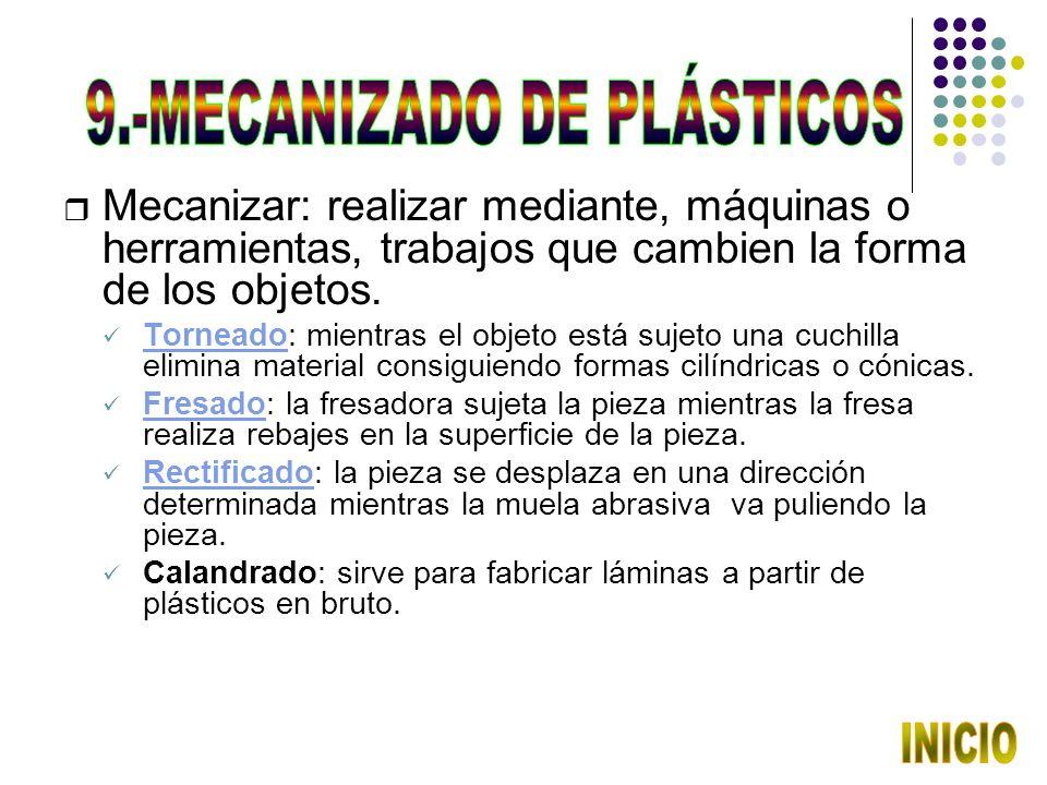 9.-MECANIZADO DE PLÁSTICOS