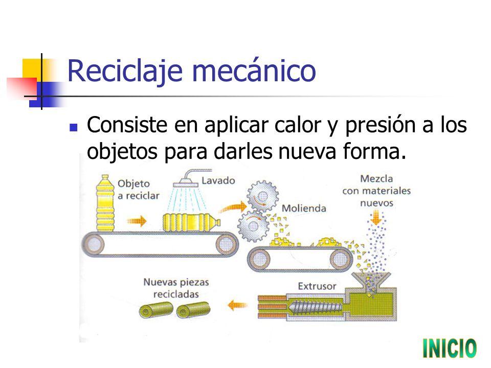 Reciclaje mecánico INICIO