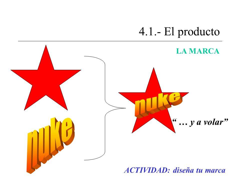 4.1.- El producto nuke nuke … y a volar LA MARCA