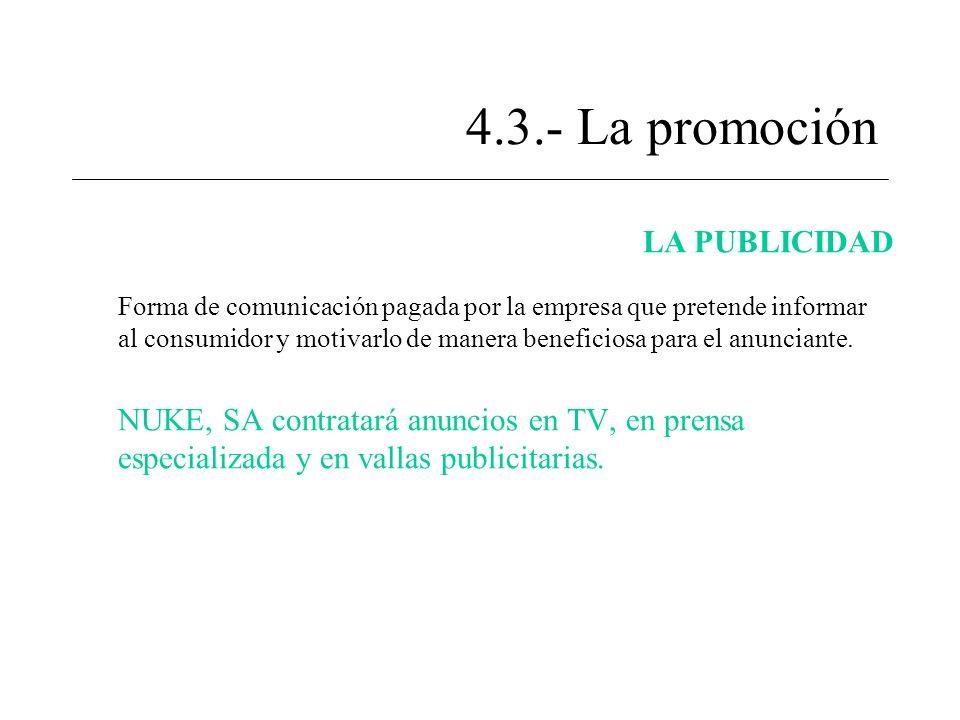 4.3.- La promoción LA PUBLICIDAD