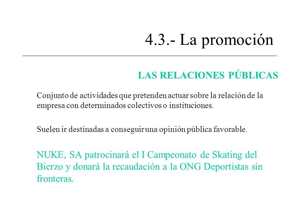 4.3.- La promoción LAS RELACIONES PÚBLICAS