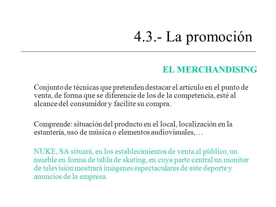 4.3.- La promoción EL MERCHANDISING