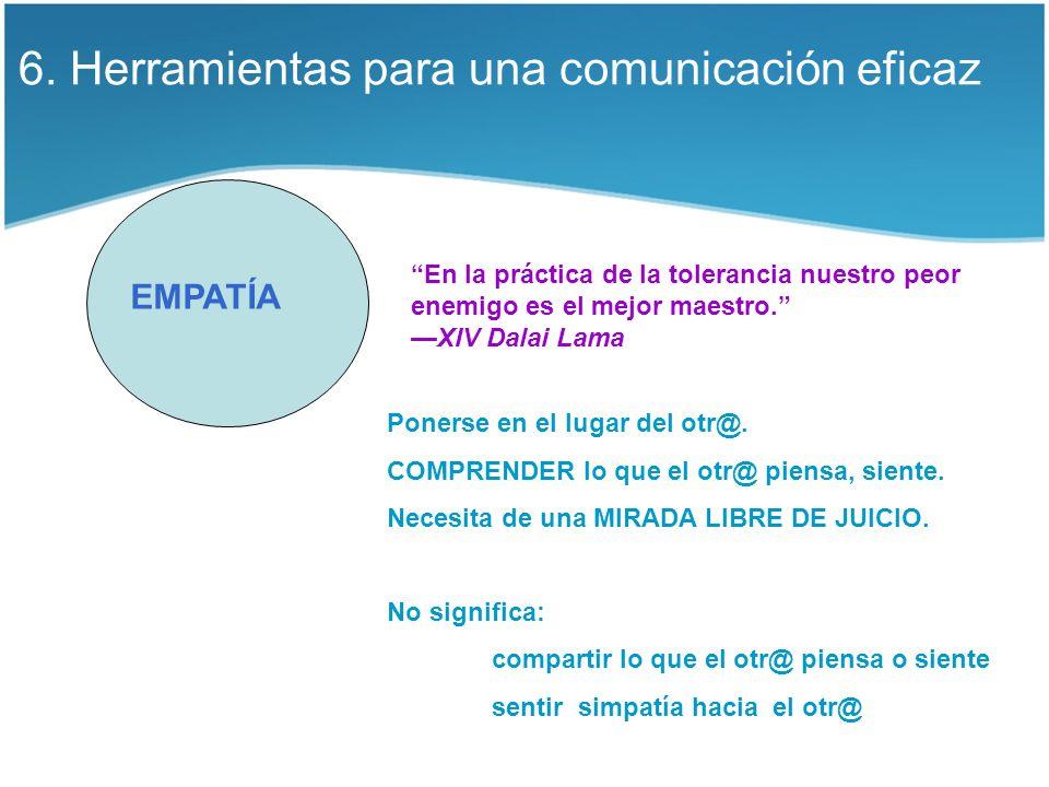 6. Herramientas para una comunicación eficaz