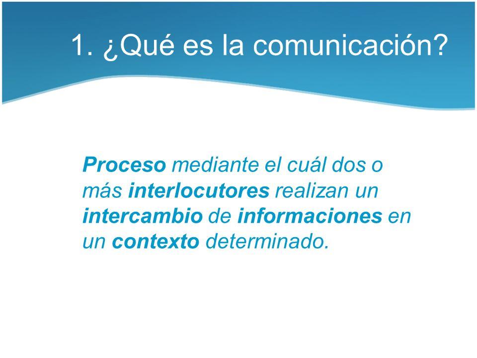 1. ¿Qué es la comunicación